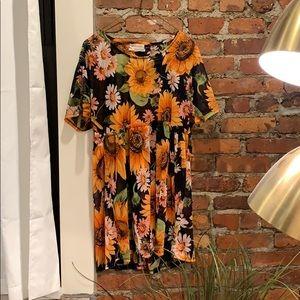 UO Mesh Sunflower Babydoll Dress